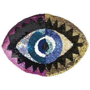 Eye Reversible Sequin Pillow