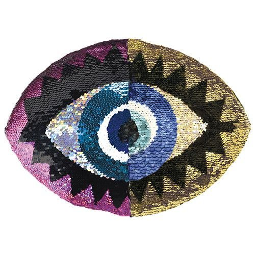 Eye Reversible Sequin Pillow