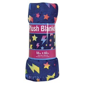 Stars & Lightning Fuzzy Throw Blanket