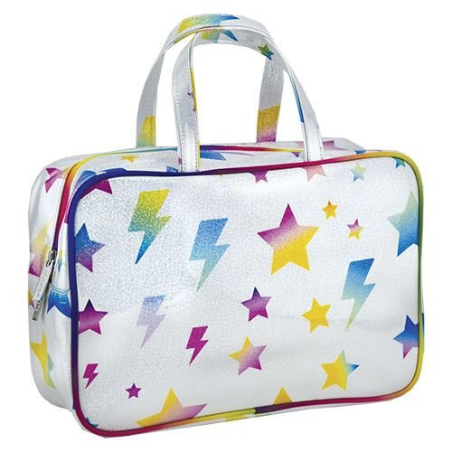 Lightning Bolt and Stars Large Cosmetic Bag