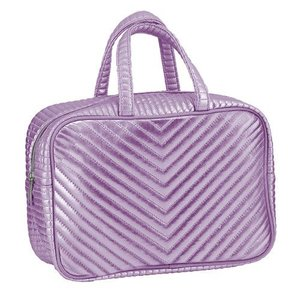 Pink Chevron Large Cosmetic Bag