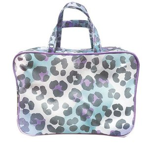 Snow Leopard Large Cosmetic Bag