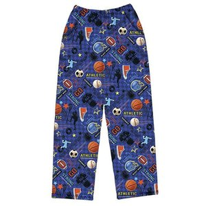 Sports Pattern Fuzzy Pants