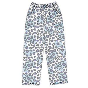 Snow Leopard Fuzzy Pants