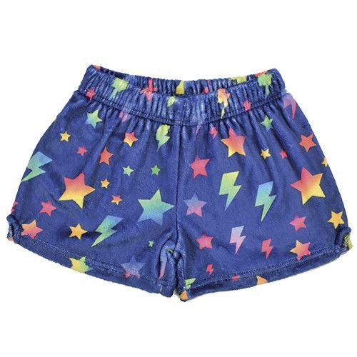 Lightning Bolts and Stars Fuzzy Shorts
