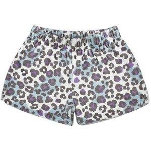 Snow Leopard Fuzzy Shorts