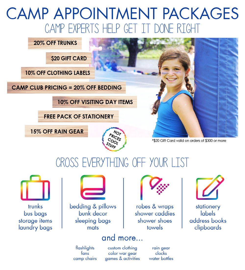 Camp Appointment package details