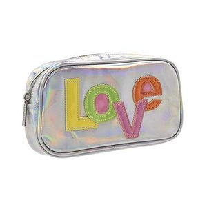 Love Patch Holographic Small Cosmetic Bag