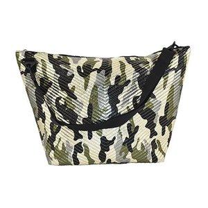 Metallic Camo Chevron Weekender Bag
