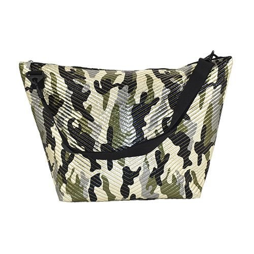 Metallic Camo Chevron Weekender Bag