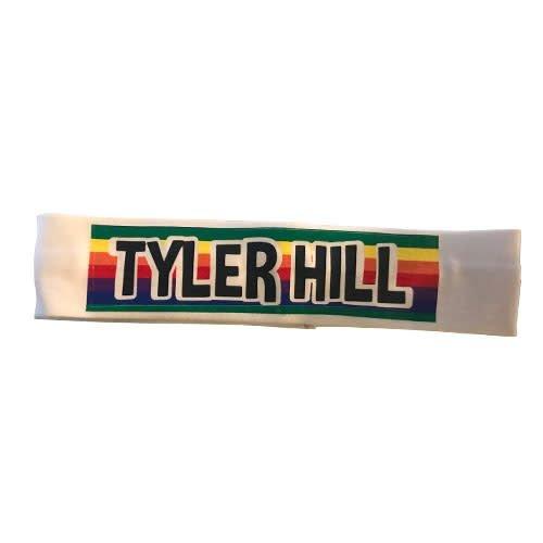 Rainbow Striped Camp Name Headband