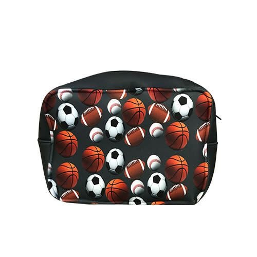 Charcoal Sports Ball Neoprene Dopp Kit