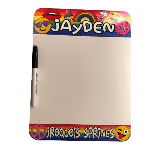 Rainbow Vibes Dry Erase Board