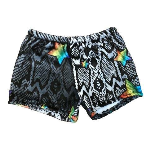 Snake Star Fuzzy Shorts