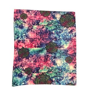 Flower Galaxy Throw Blanket