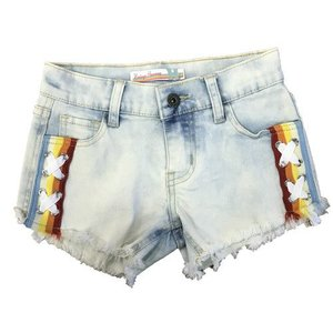 Rainbow Side Lace Jean Shorts