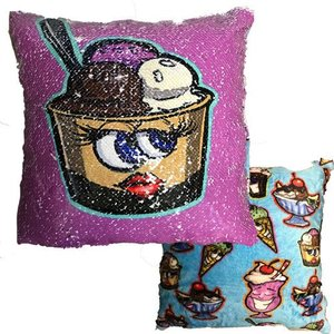 Happy Dessert Sequin Pillow