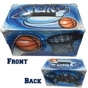 Airbrushed Sports Mini Trunk