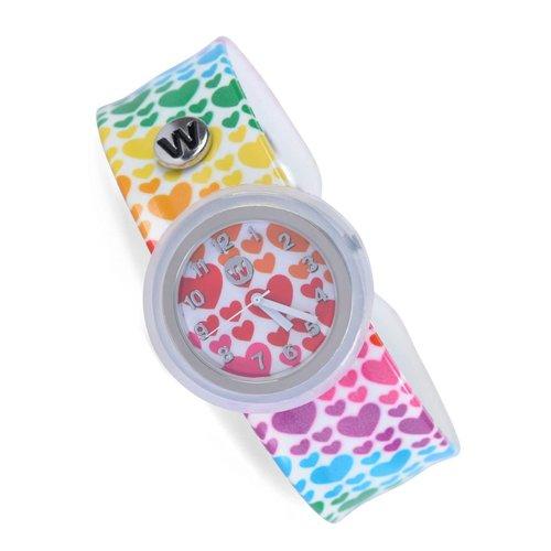 Rainbow Hearts Waterproof Slap Watch