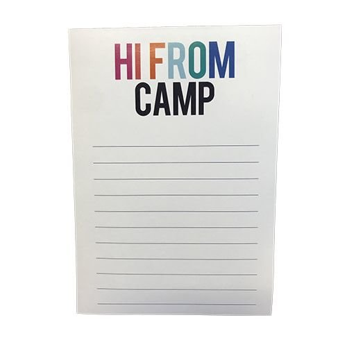 Bold HI FROM CAMP Notepad