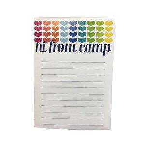 Hearts Hi From Camp Notepad