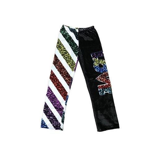 Glitter Stripe Fuzzy Pants