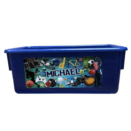 Sporty Collage Storage Tub