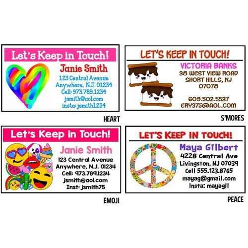 Girls Personalized Calling Cards