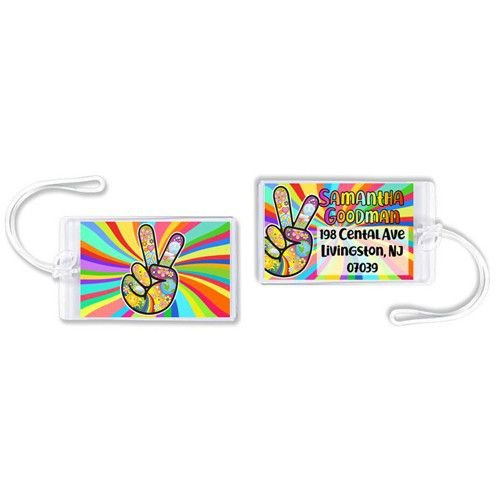 Groovy Luggage Tag