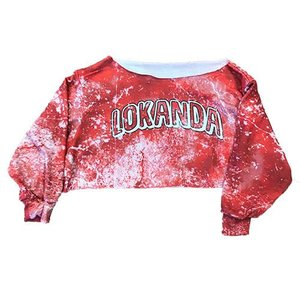 Tie Dye Cropped Open Bottom Sweatshirt