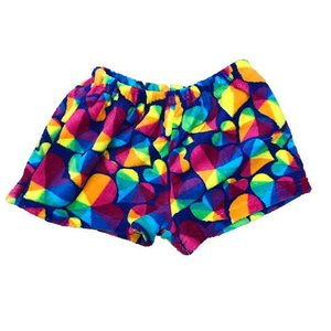 Prism Hearts Fuzzy Shorts