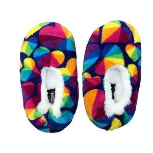 Prism Hearts Fuzzy Slippers