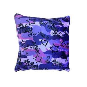 Purple Camo Sequin Pillow