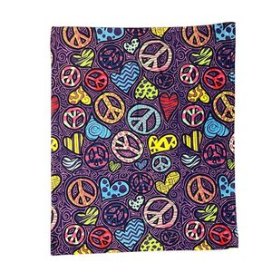 Peace Hearts Blanket
