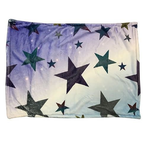 Glitter Star Fuzzy Pillowcase