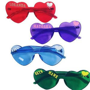 Heart Camp Name Glasses