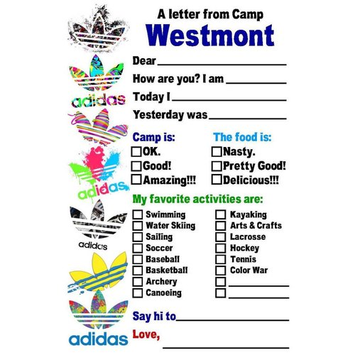 3 Stripes Fill-In Notecards