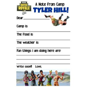 Battle Royale Fill-In Notecards