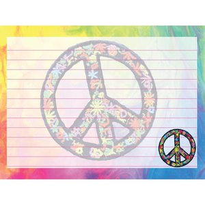 Detailed Peace Sign Notecards