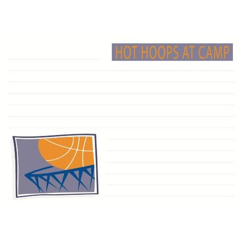 Hot Hoops Notecards