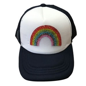 Rainbow Bling Trucker Hat