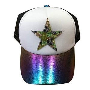 Blingy Camo Star Trucker Hat