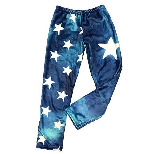 Denim Star Fuzzy Pants
