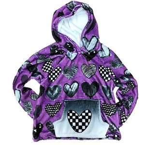 Purple Hearts Hoody Pullover