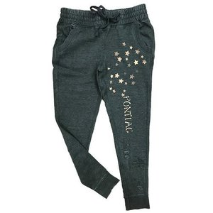 Distressed Joggers with Mini Stars