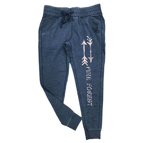 Distressed Joggers with Arrows