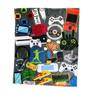 Gamer Collage Throw Blanket