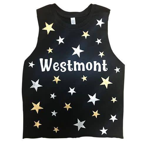 Metal Stars Sleeveless Shirt