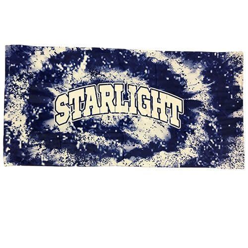 Tie Dye Camp Name Towel