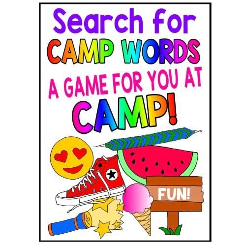 Best of Camp Word Search Card